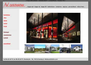 AW Arkitekters Hemsida